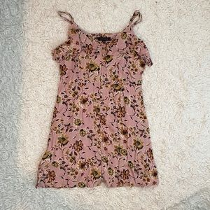 Sanctuary Pink Floral Print Dress Size Small